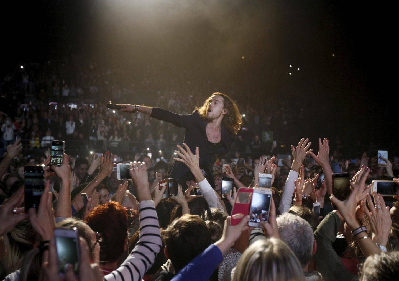 Julien Doré en véritable showman, le 7décembre dernier, au Palais Nikaïa, à Nice, devant 6000 personnes.