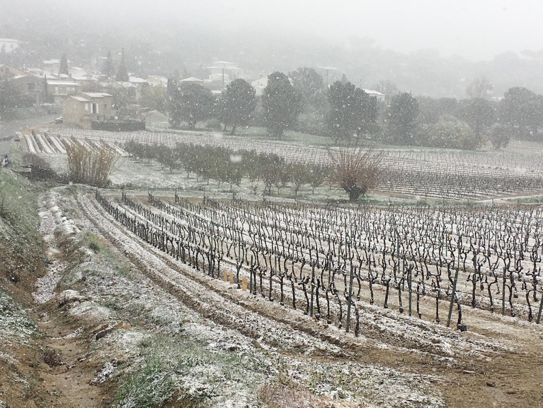 La neige au Plan-de-la-Tour.