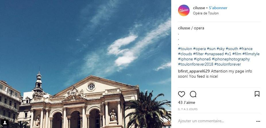 Vue de l'opéra de Toulon.