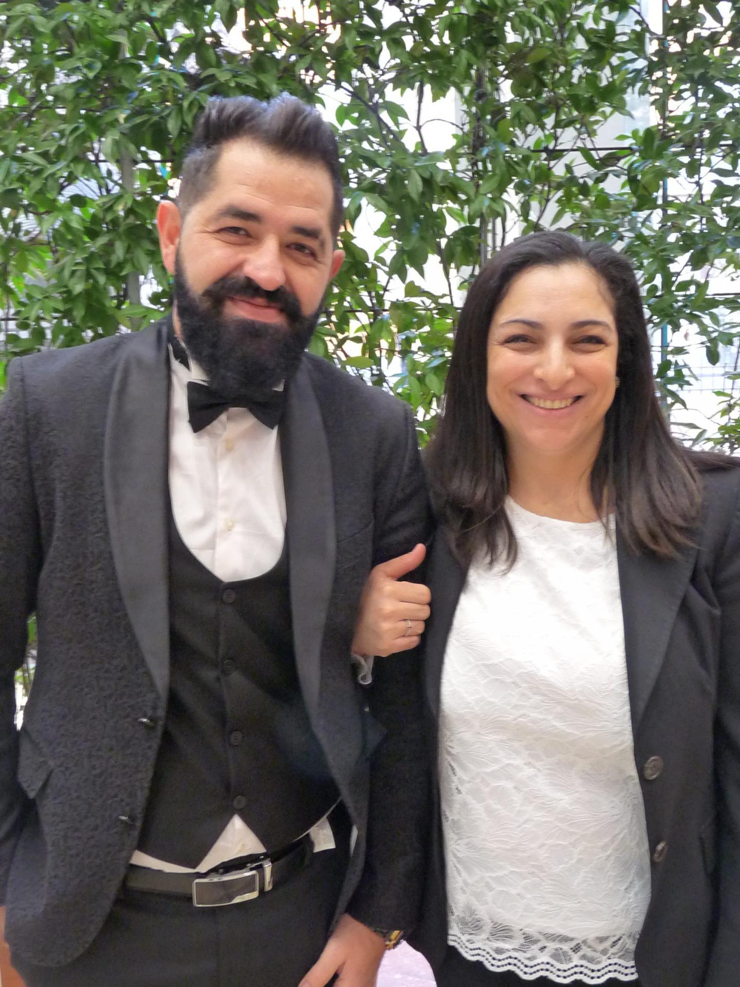 Saad Kadri, coiffeur, et Lalla Boutaleb El Idrissi, aide soignante.