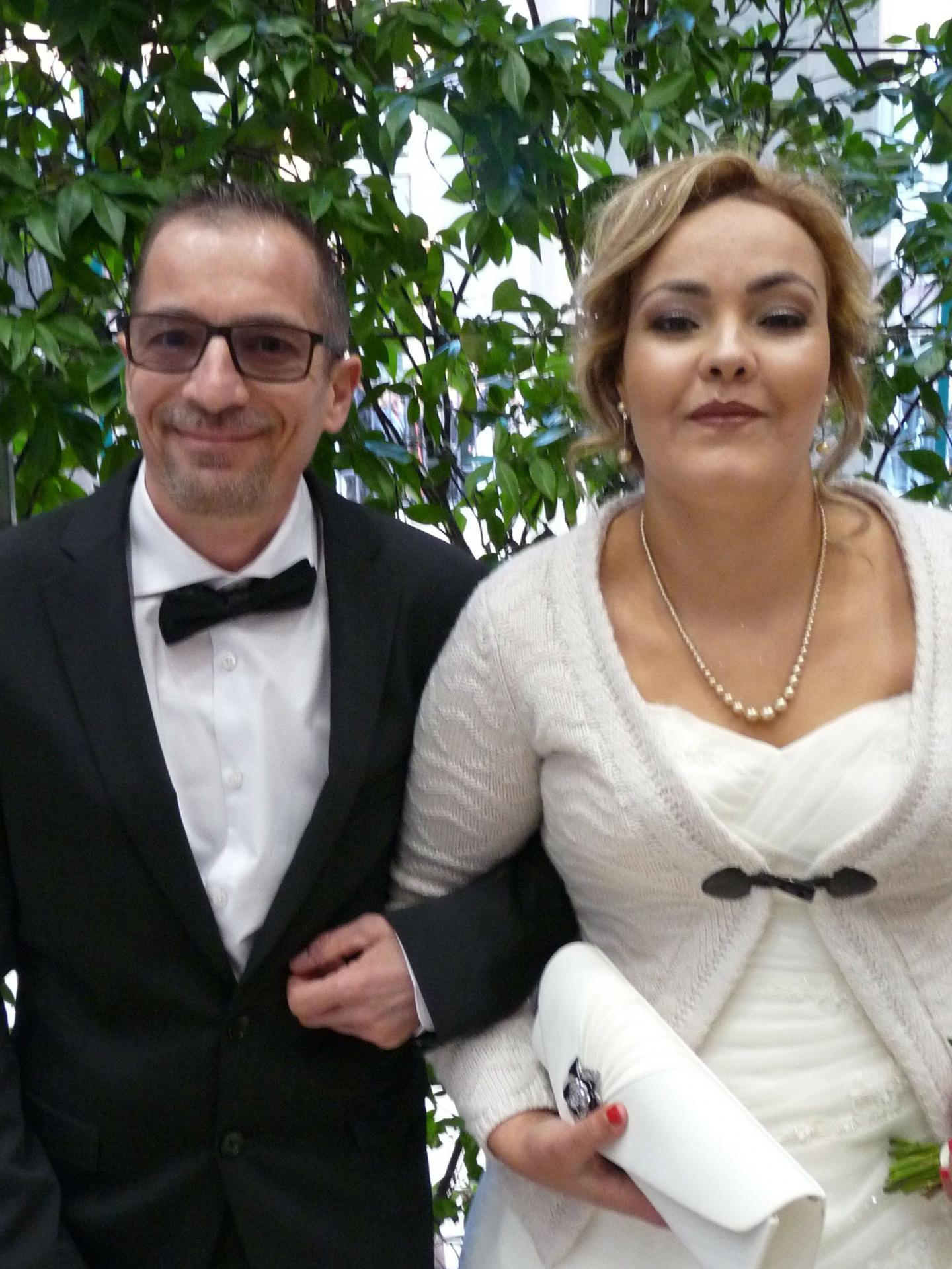 Didier Local, fonctionnaire à la mairie de Nice, et Nora Aroub.