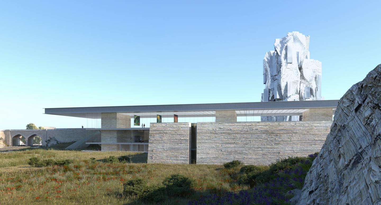 Mais aussi le bâtiment de l'Imredd (Institut méditerranéen du risquede l'environnement et du développement durable) à Nice
