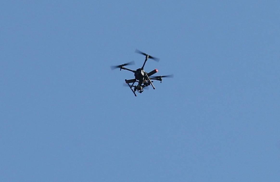 Un drone en renfort pour surveiller la zone