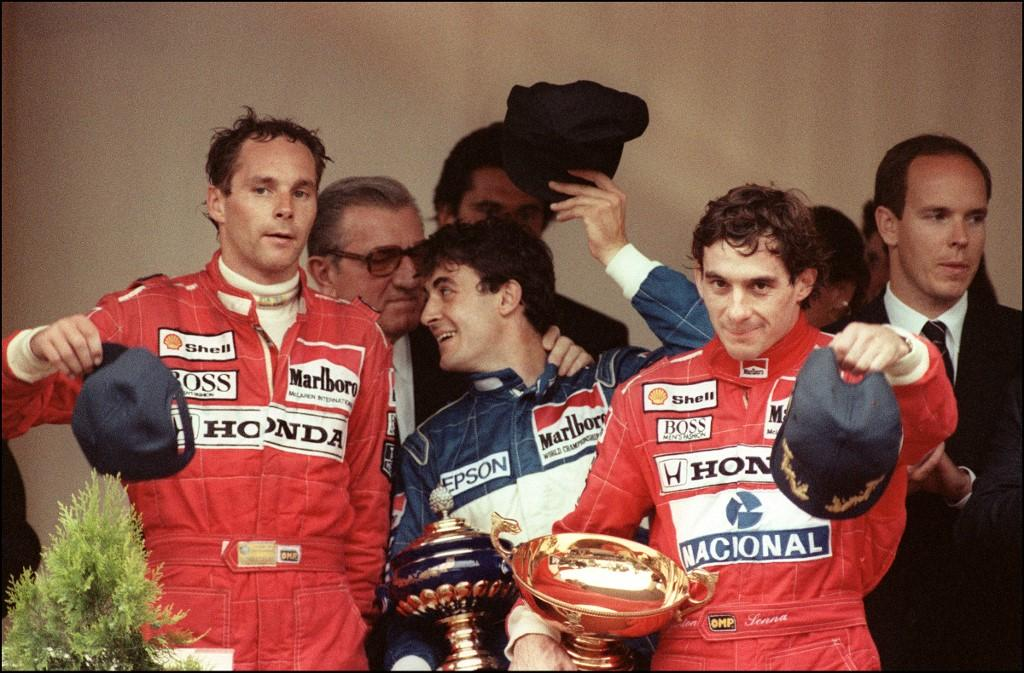 En 1990, Ayrton Senna (McLaren-Honda) termine devant Jean Alesi (Tyrrell-Ford) et Gerhard Berger (McLaren-Honda).