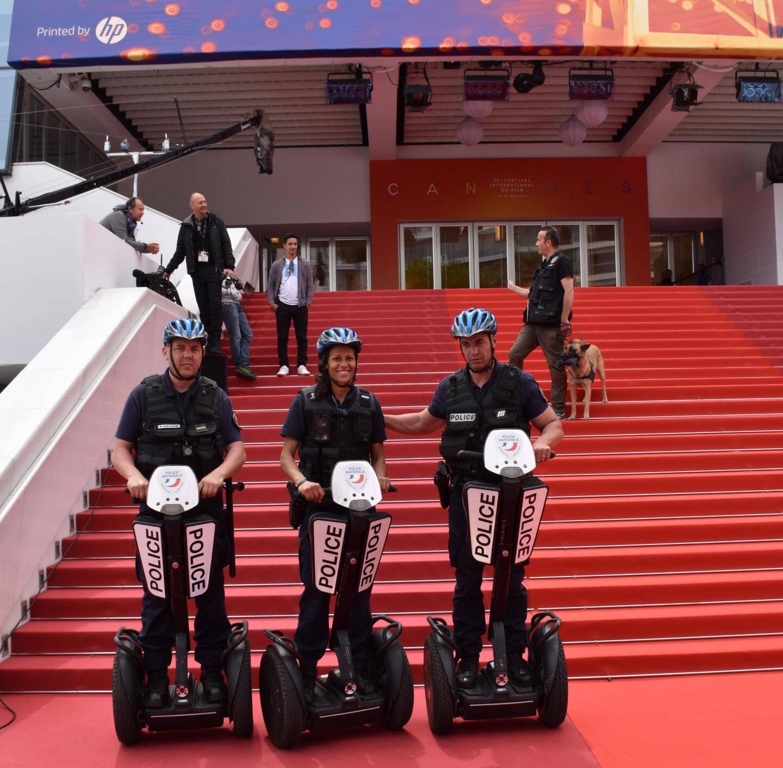 Le gyropode, un engin adapté à la sécurisation des abords du palais des festivals, selon la police.