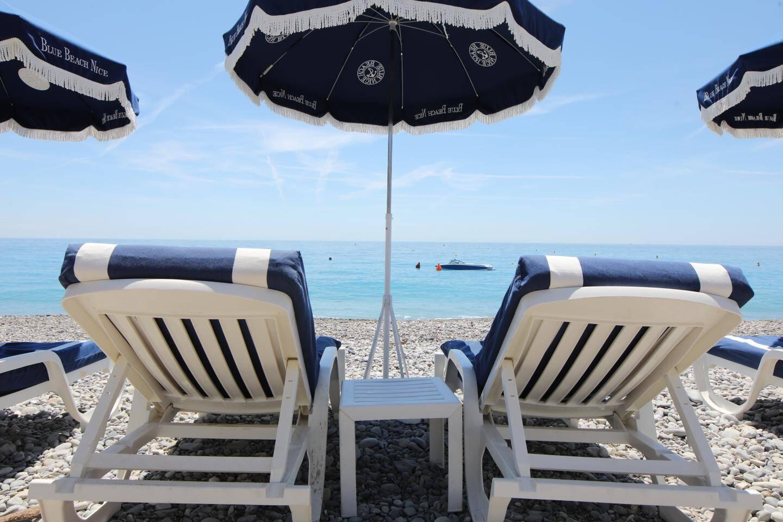 Une vue du Blue Beach à Nice.