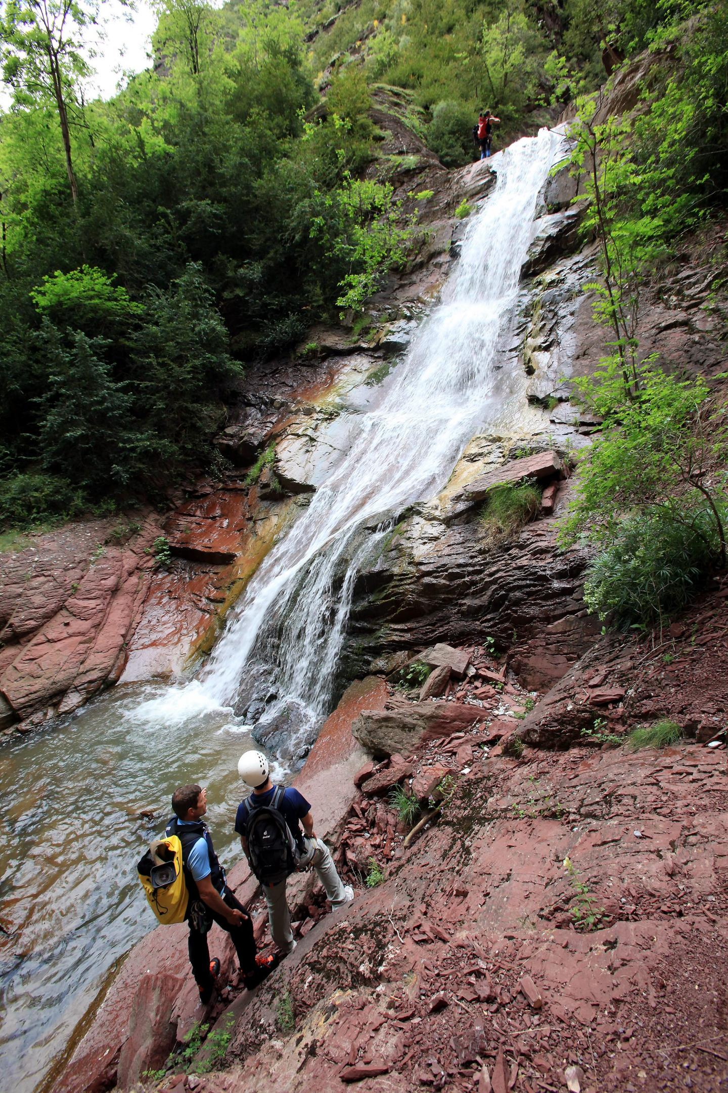 Illustration canyoning à Beuil.