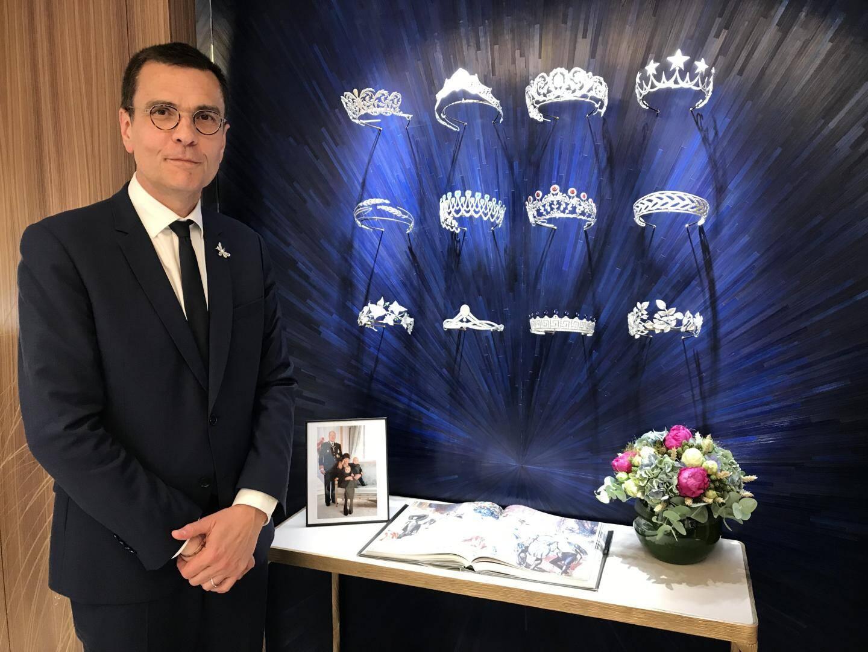 Le directeur général de Chaumet dans la boutique qui vient d'ouvrir à Monte-Carlo.