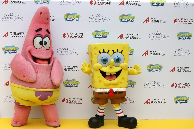 Les mascottes sont venues fêter le 20e anniversaire du dessin animé.