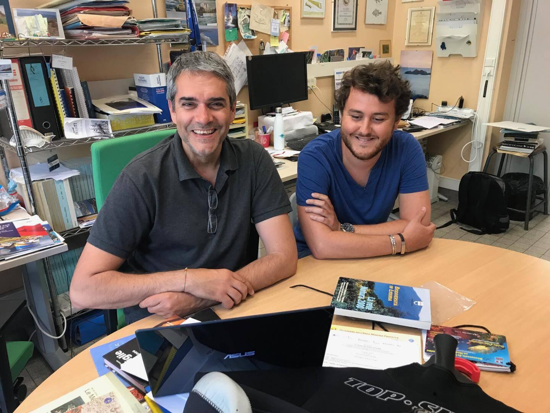 """Paolo Guidetti et Eugenio Di Franco: """"limiter la vitesse des bateaux permet de réduire le bruit."""""""