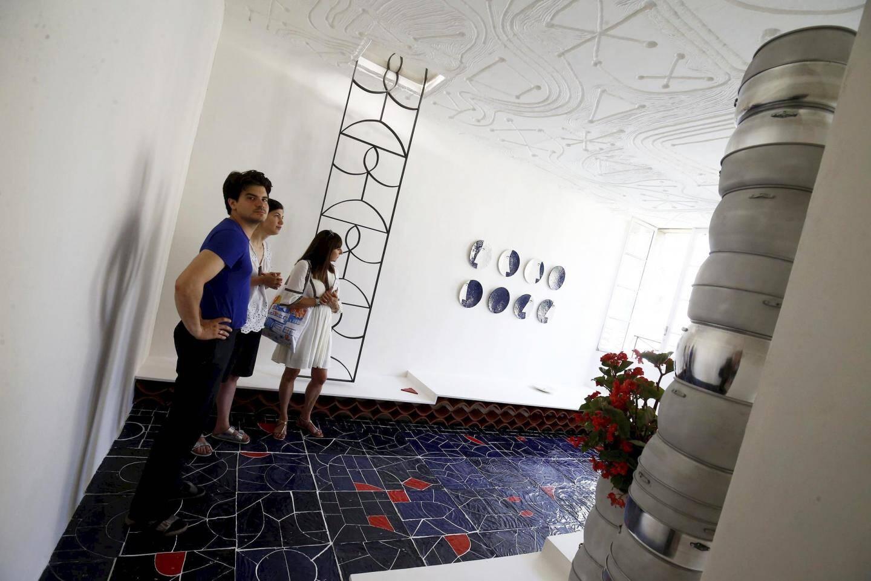 Magnifique mosaïque habillant le sol du projet de Maximilien Pellet et Zoé Piter.