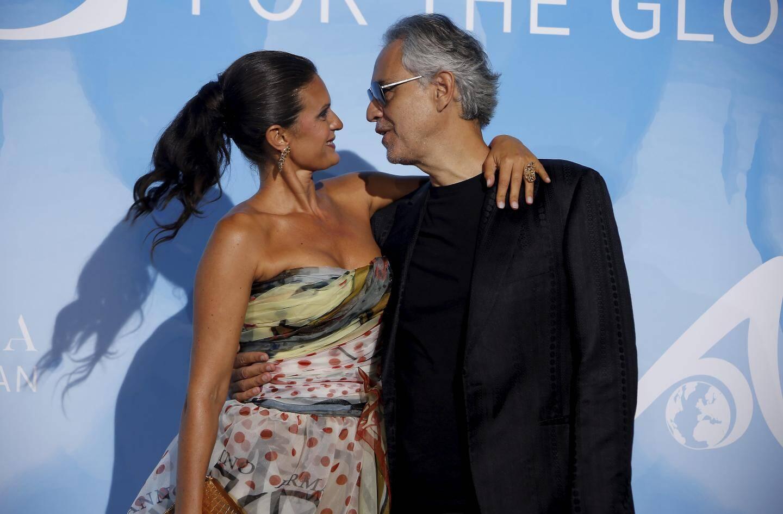 Andrea Bocelli et son épouse Veronica.