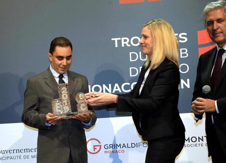 Rachid Benchaouir, avec Axel Hoppenot (SBM) et Tiffany Brillant (Caisse d'Épargne).