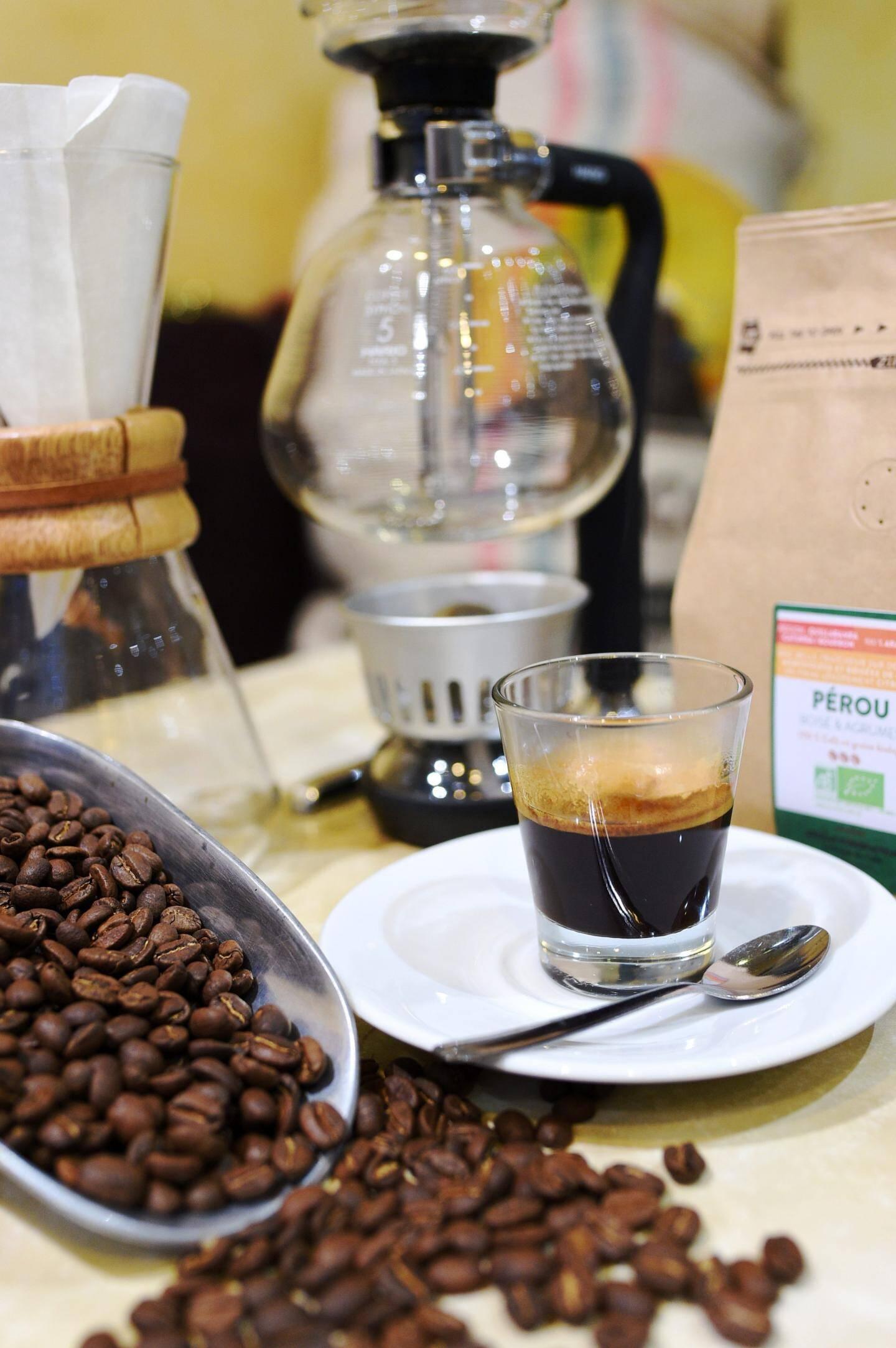 Le Palais du café à Draguignan propose un véritable produit bio.