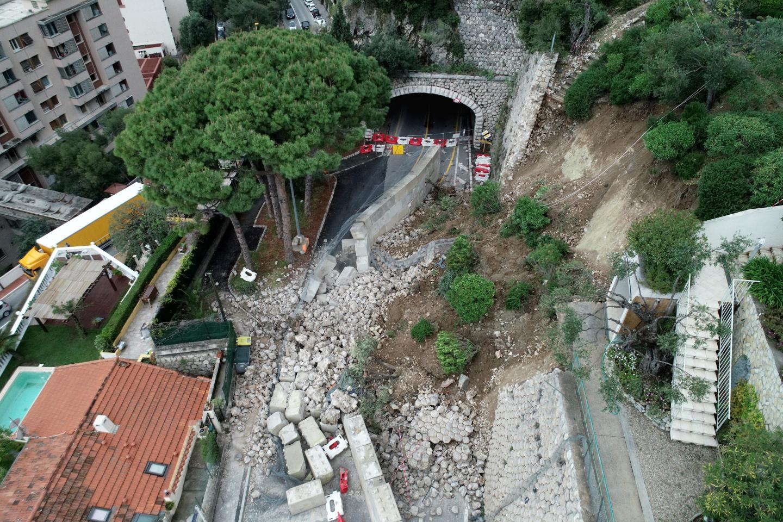 La Moyenne corniche avait été coupée en partie juste avant le Grand Prix de Monaco.