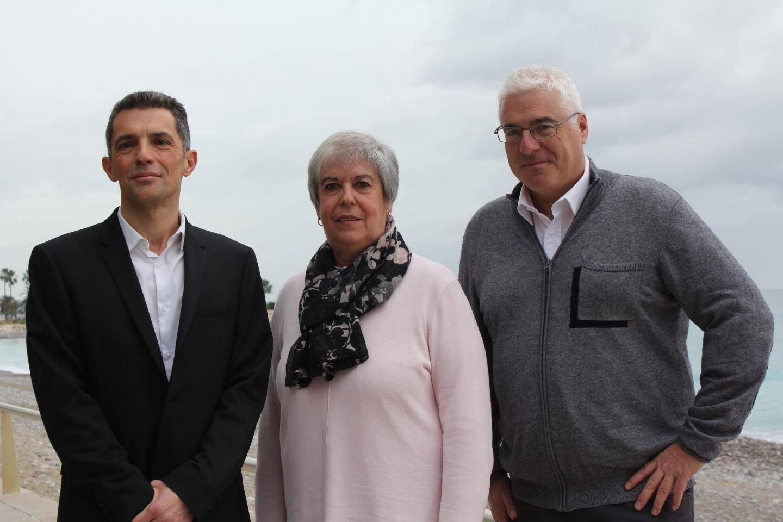 De gauche à droite : Gérald Devigny, Paul Couffet et Fabrice Pastor. Le maire actuel, Michel Isnard a décidé de ne pas se représenter. Il soutient officiellement son 1er adjoint.