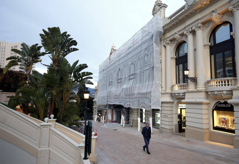 Le nouvel espace extérieur, derrière les arches, donnera sur l'allée François-Blanc.