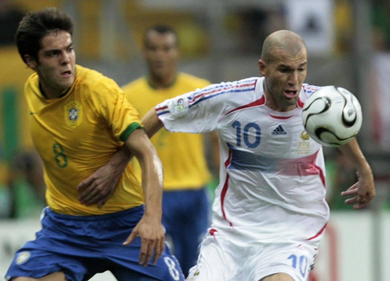 Zinedine Zidane en 2006 face au Bresil
