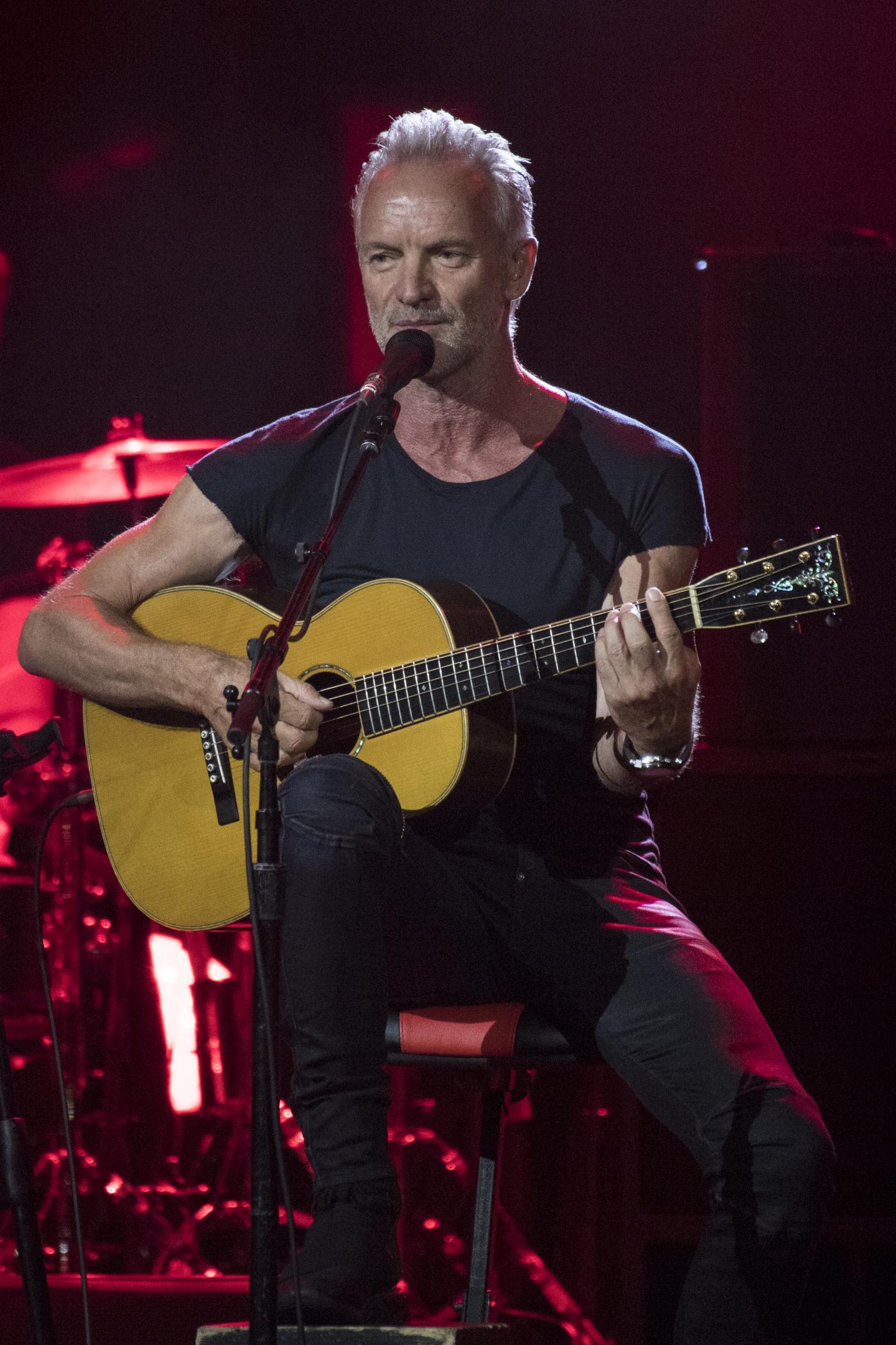 Impeccable Sting en guitare-voix l'an passé.