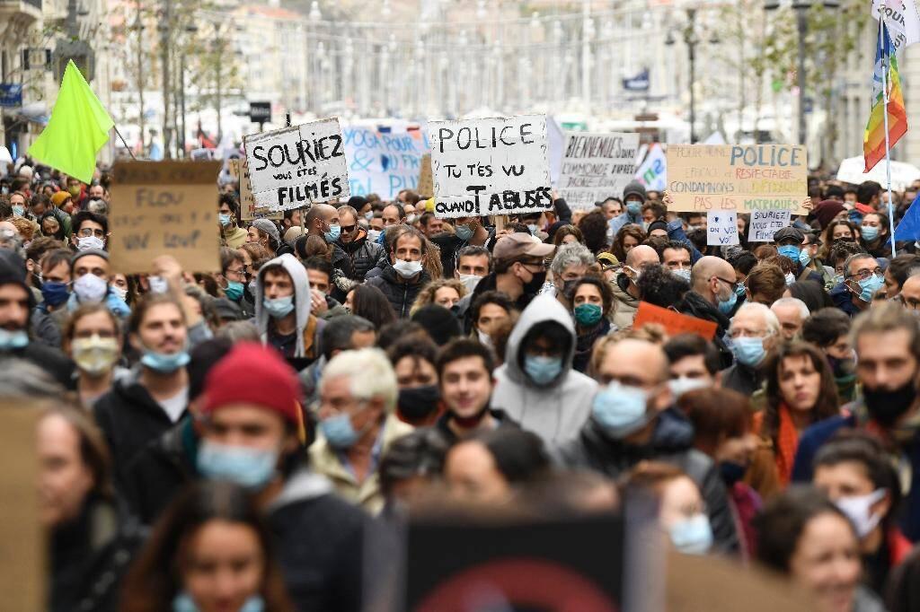 """Manifestation contre la proposition de loi """"Sécurité globale"""", le 28 novembre 2020 à Marseille"""