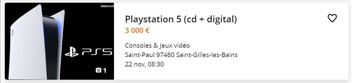 3.000 euros, rien que ça.