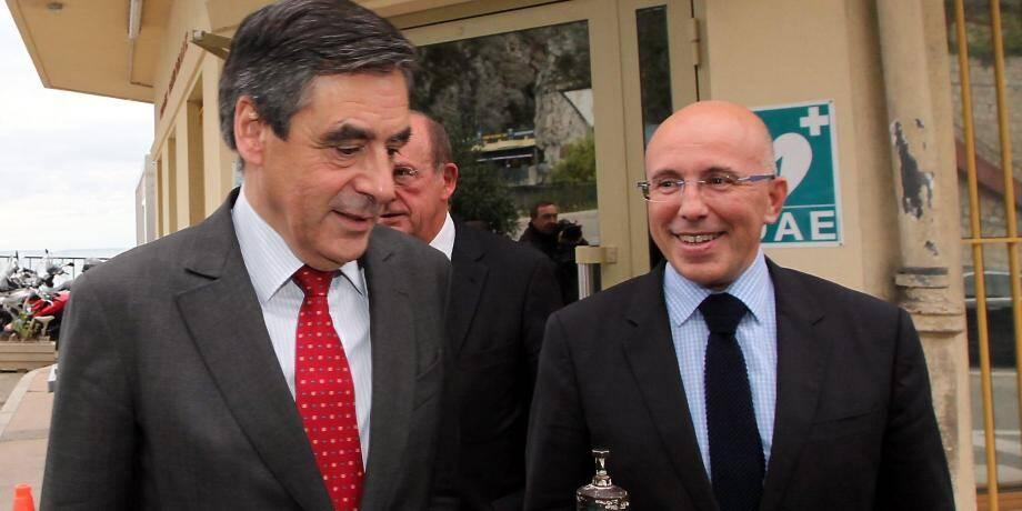 François Fillon et Eric Ciotti à Menton.