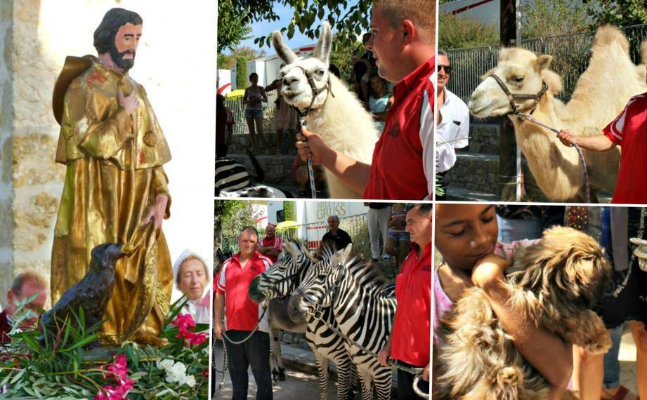 Les célébrations de la fête patronale de la commune se sont achevées avec la traditionnelle bénédiction des bêtes de cirque ou de compagnie.