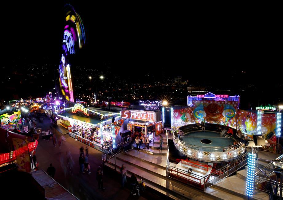 ouverture de la fête foraine à Monaco FETE FORAINE MONACO