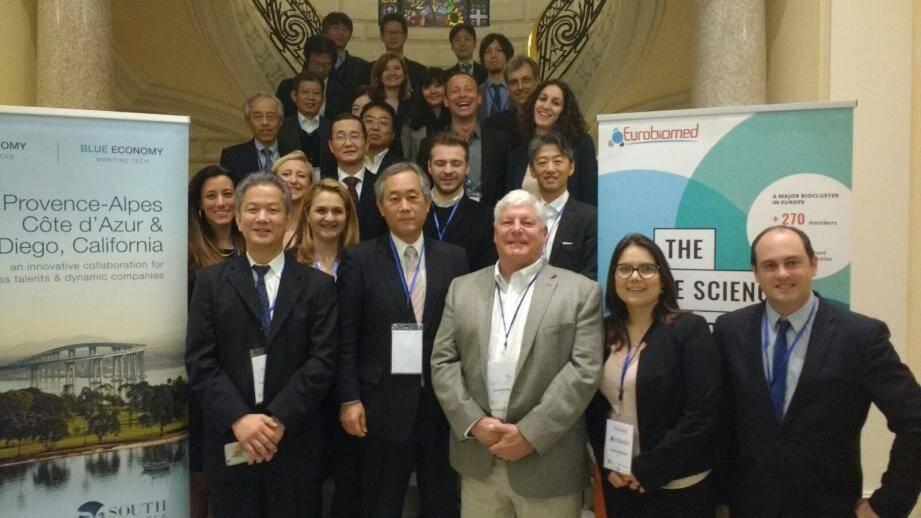 La délégation internationale lors des rencontres BtoB à la CCI de Nice Côte d'Azur.