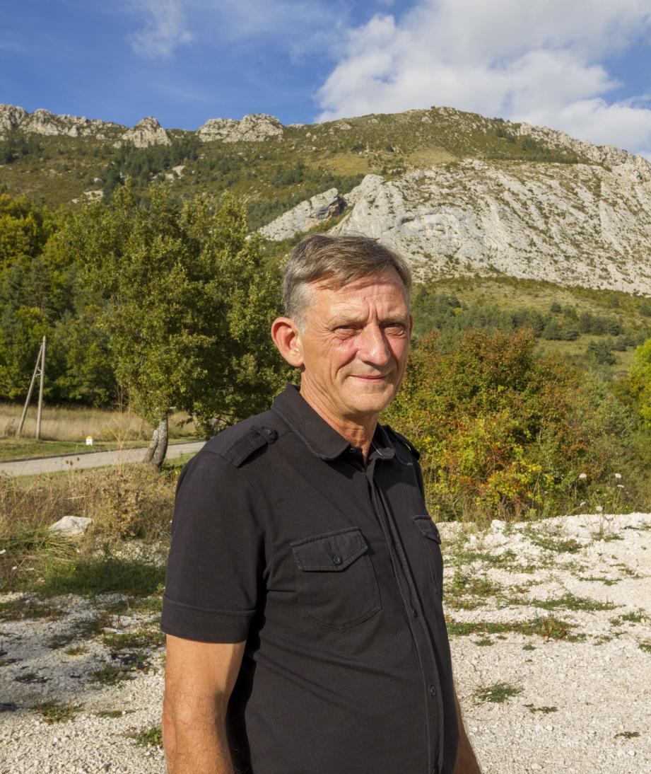 Ismaël Ogez, maire de Briançonnet.