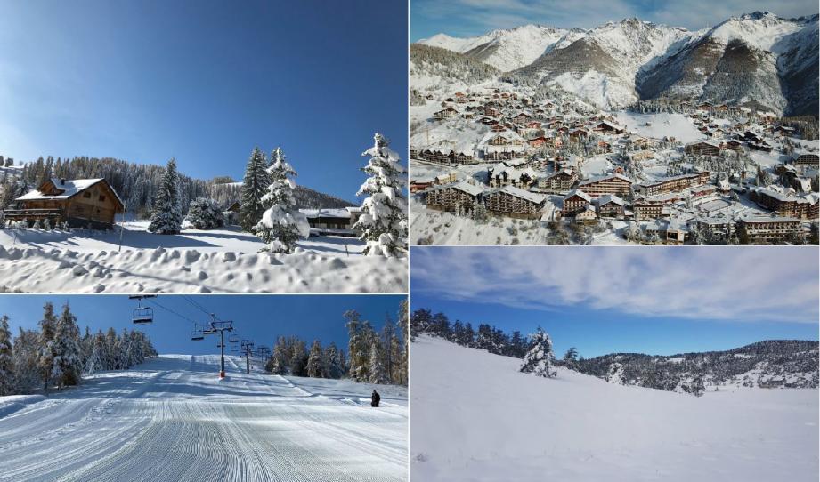 Valberg, Auron, La Colmiane et Gréolières ont profité de très belles chutes de neige.