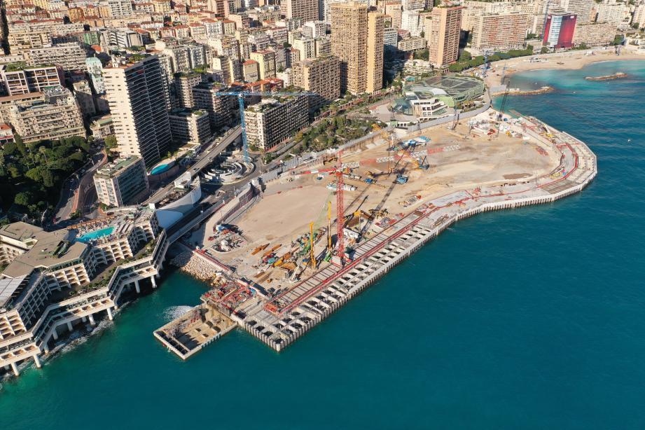Le chantier d'extension en mer se poursuit à Monaco.