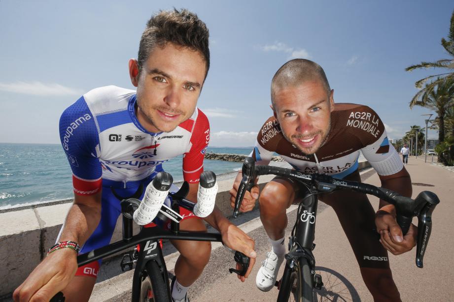 Rudy Molard et Mikael Cherel, partenaires d'entraînements sur la Côte d'Azur.