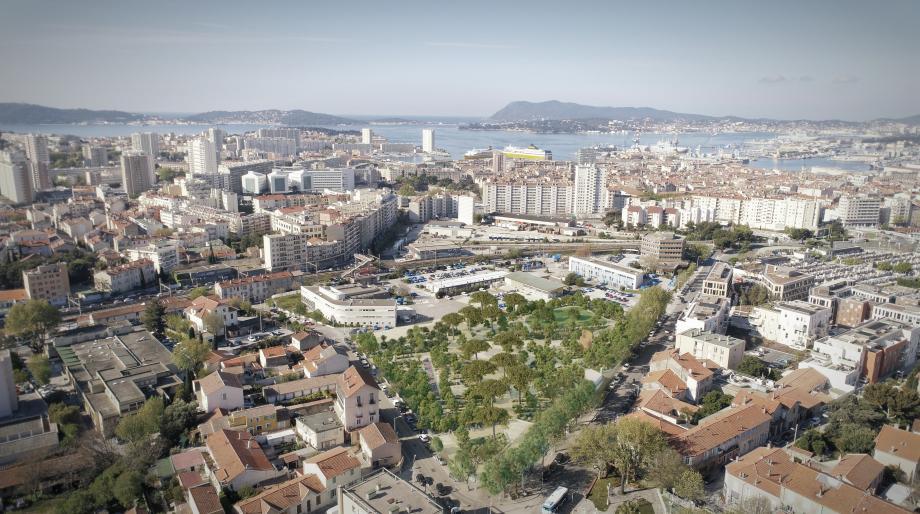 C'est entre la place Laporterie et le boulevard Raynouard, sur une friche industrielle qui appartenait à EDF, que va être aménagé un des plus grands parcs de la ville.
