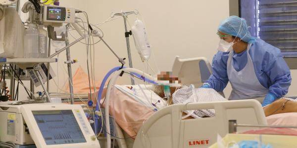 Un patient en réanimation à l'hôpital Pasteur 2, à Nice. Illustration.