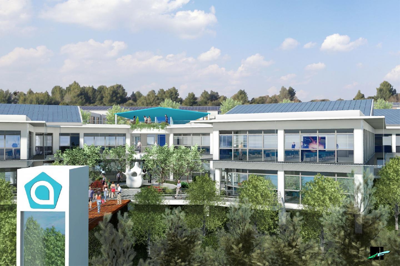 Les 3 500 mètres2 de bâti disposés en forme de vertèbre accueilleront l'école d'ostéopathie Atman et un centre de bien-être et de soins pour les actifs et les sportifs. D'un coût de 8 750 000 euros, le projet est entièrement autofinancé.(D.R.)