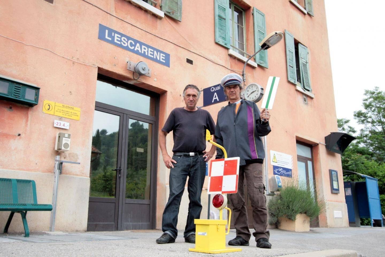 Le chef de gare Francis Litt quittera ses fonctions à la gare de L'Escarène le 10 juin. Les élus communaux se mobilisent pour nouer le dialogue avec la SNCF « qui a pris la décision unilatéralement » .