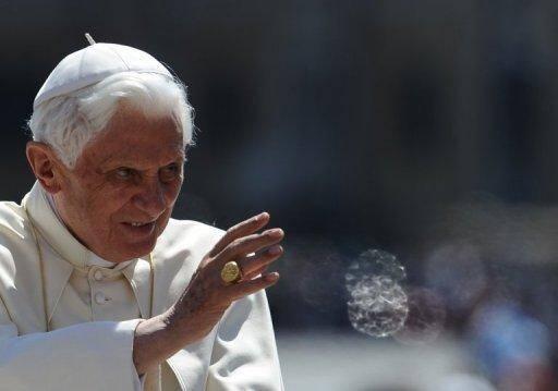 Le pape Benoît XVI le 18 mai 2011 au Vatican