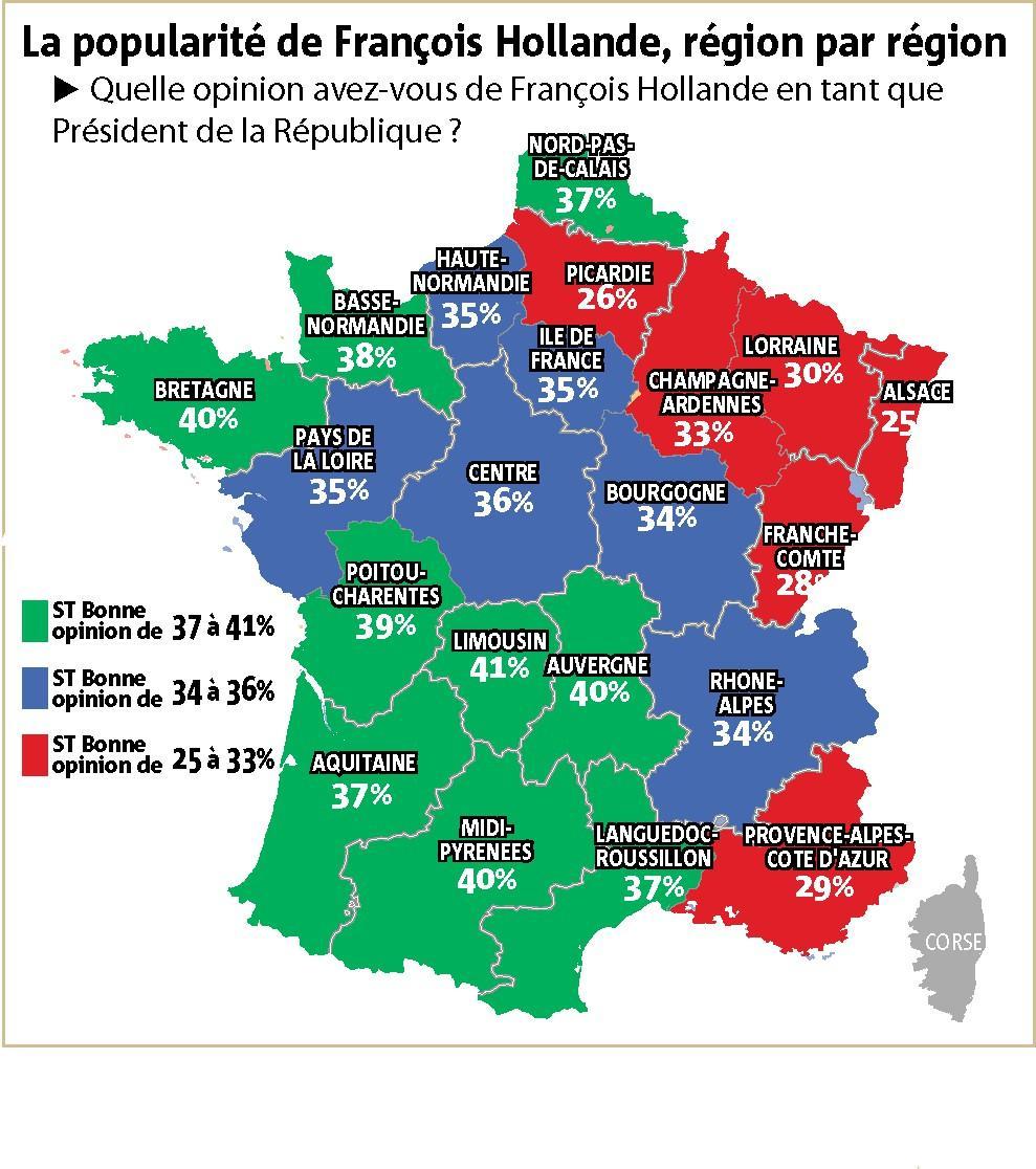 Sondage BVA-Nice-Matin sur la popularité d'Hollande