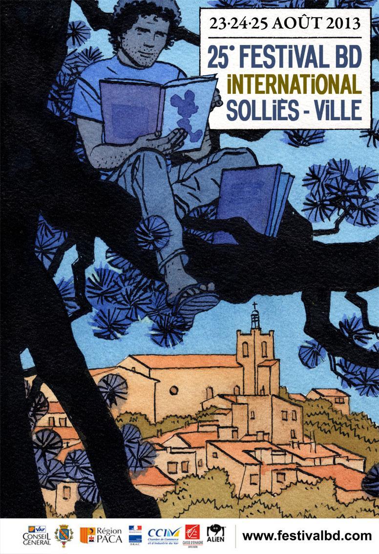Comme le veut la tradition, c'est le grand prix 2012, Cosey, qui a dessinée l'affiche de ce 25e Festival international de BD de Solliès-Ville. Il présidera par ailleurs le jury de cette édition.