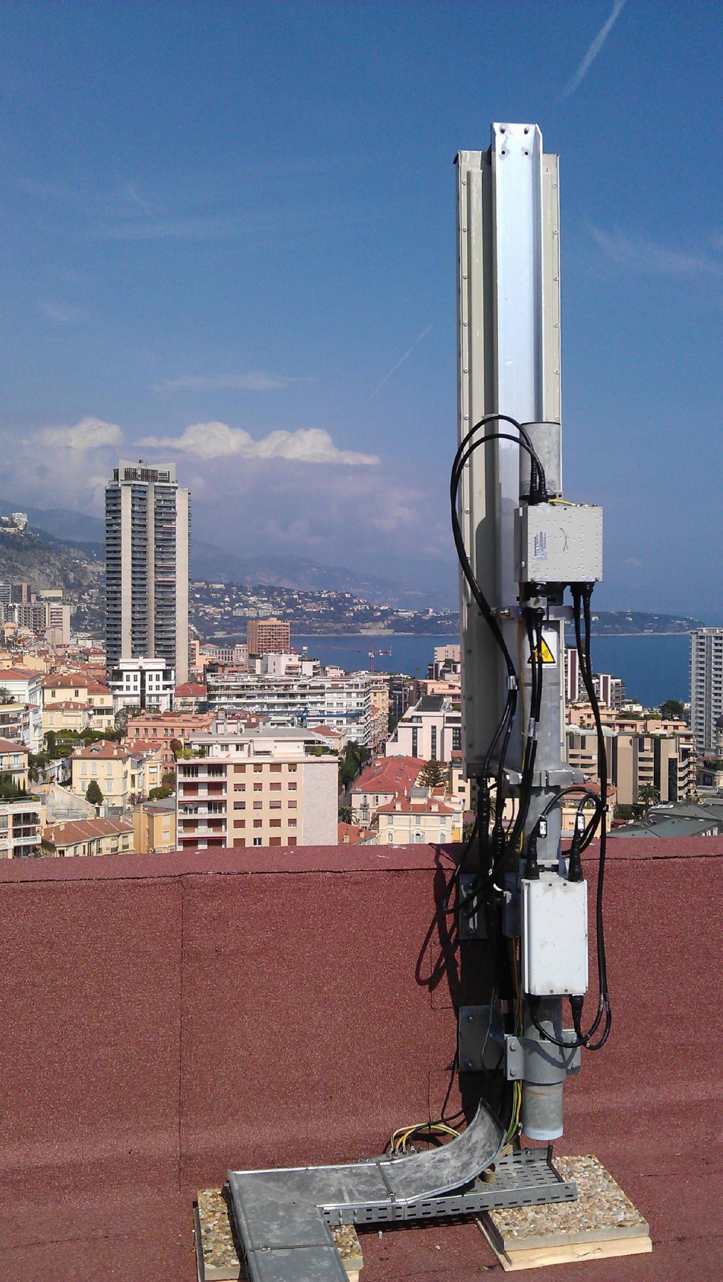 Grâce à ces antennes nouvelles générations qui ont remplacé les anciennes, la 4G pourra arroser toute la Principauté.(DR)