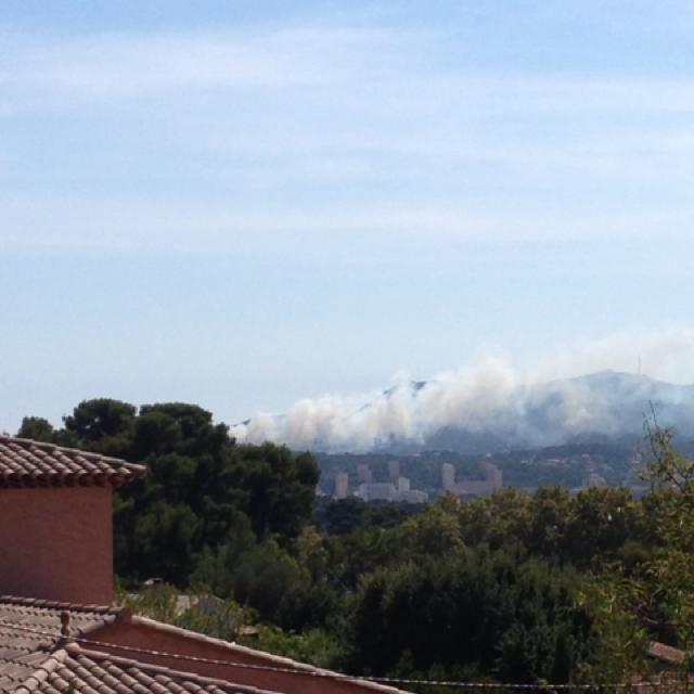 Départ de feu à La Seyne sur le massif de Janas