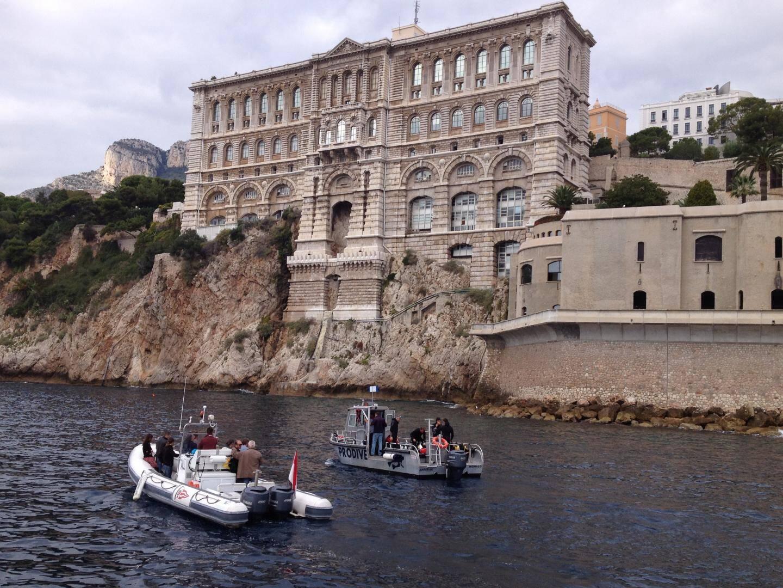 Ultime plongée ce lundi matin, sous le Musée océanographique de Monaco, pour compléter la banque d'images qui seront disponibles, mi-décembre, sur Google.