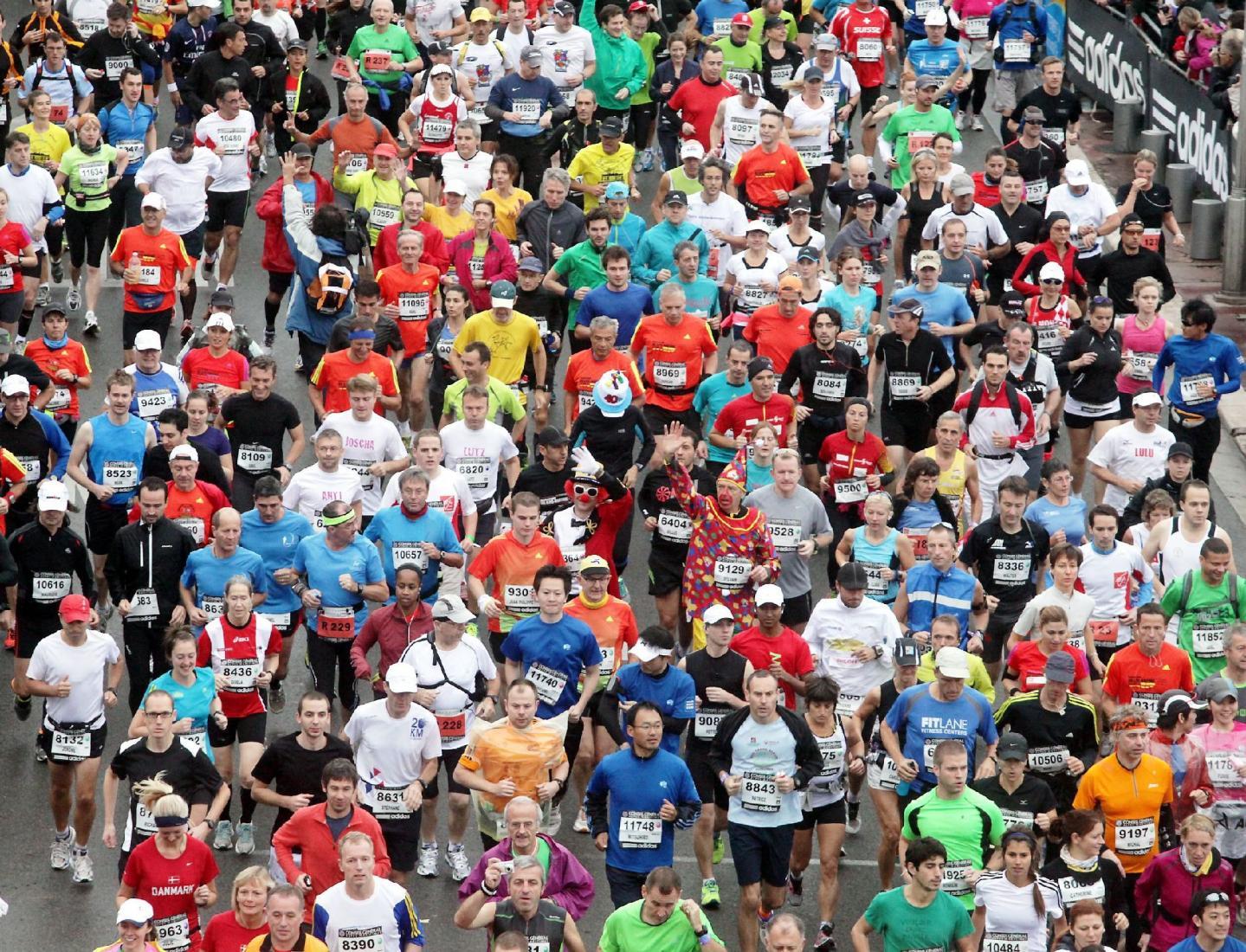 Lors du marathon Nice-Cannes 2012.