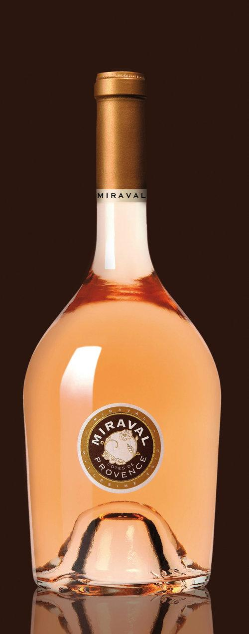 Une bouteille de la cuvée Miraval 2012.