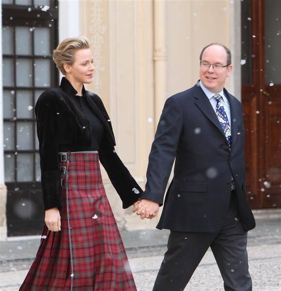Le prince Albert II et la princesse Charlène