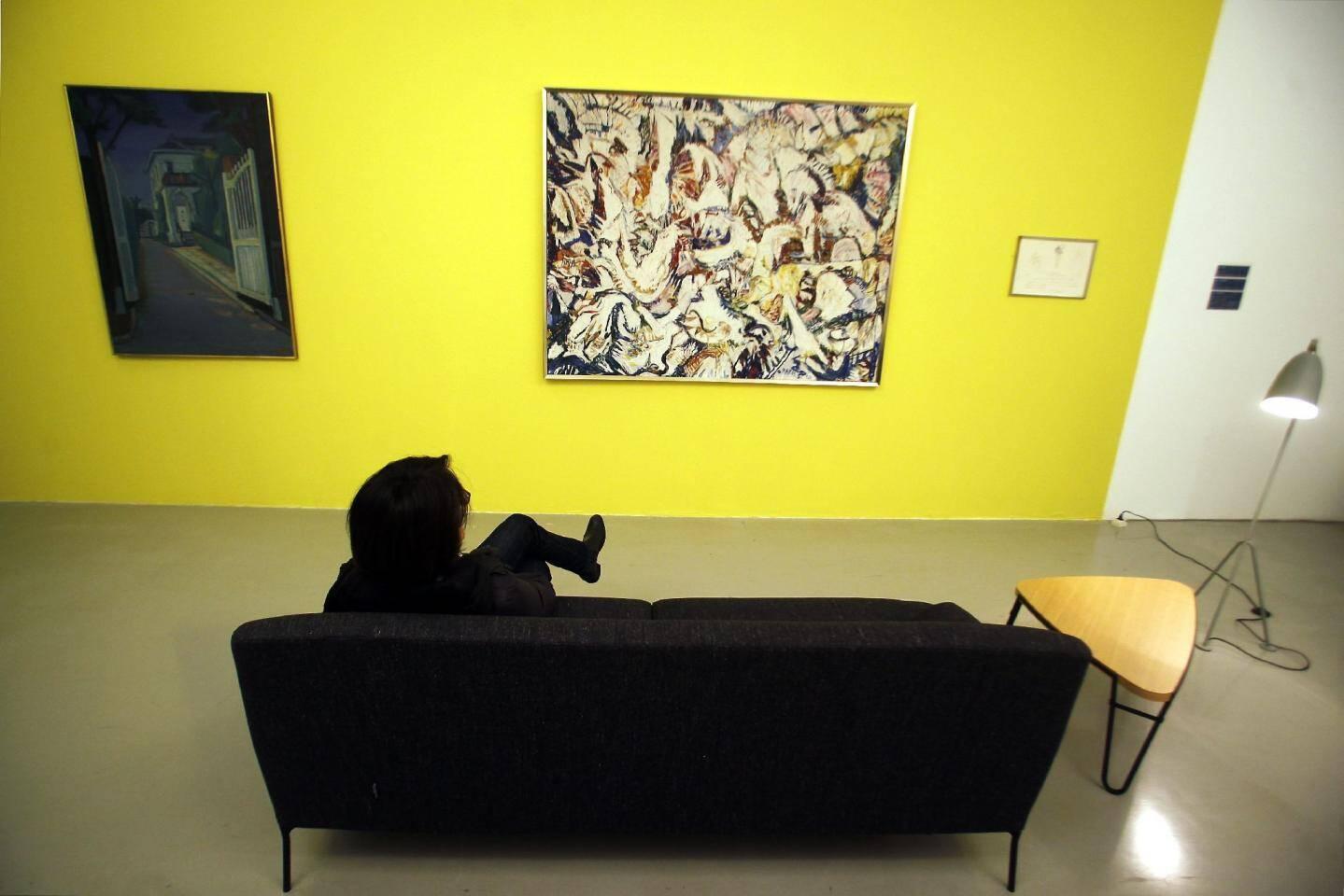 L'exposition « Autour du legs Berggreen » est en cours d'installation.