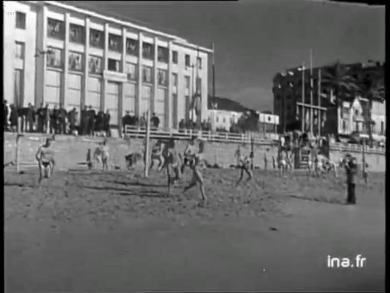 VIDEO. Bain du jour de l'an à Cannes en 1951