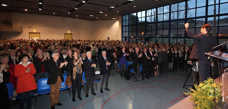 Beaucoup d'amis, d'élus et de sympathisants ont assisté, hier, à une profession de foi menée avec brio par le candidat Audibert-Troin.