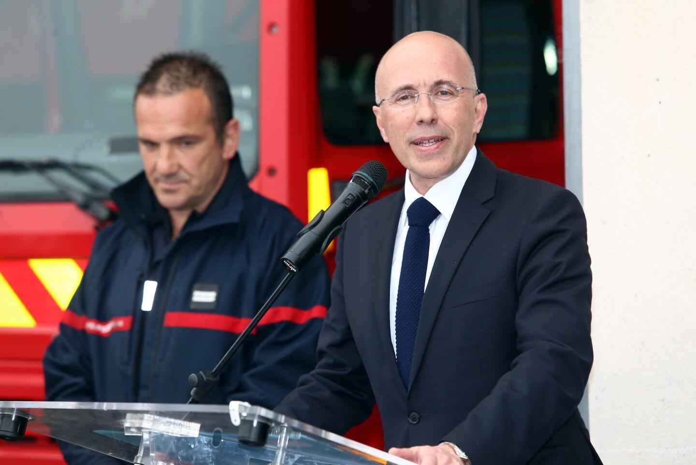 Eric Ciotti, président du SDIS 06 a rendu visite aux pompiers volontaires de La Turbie, aujourd'hui, mercredi.